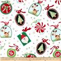 Peppermint Twist Large Ornaments White