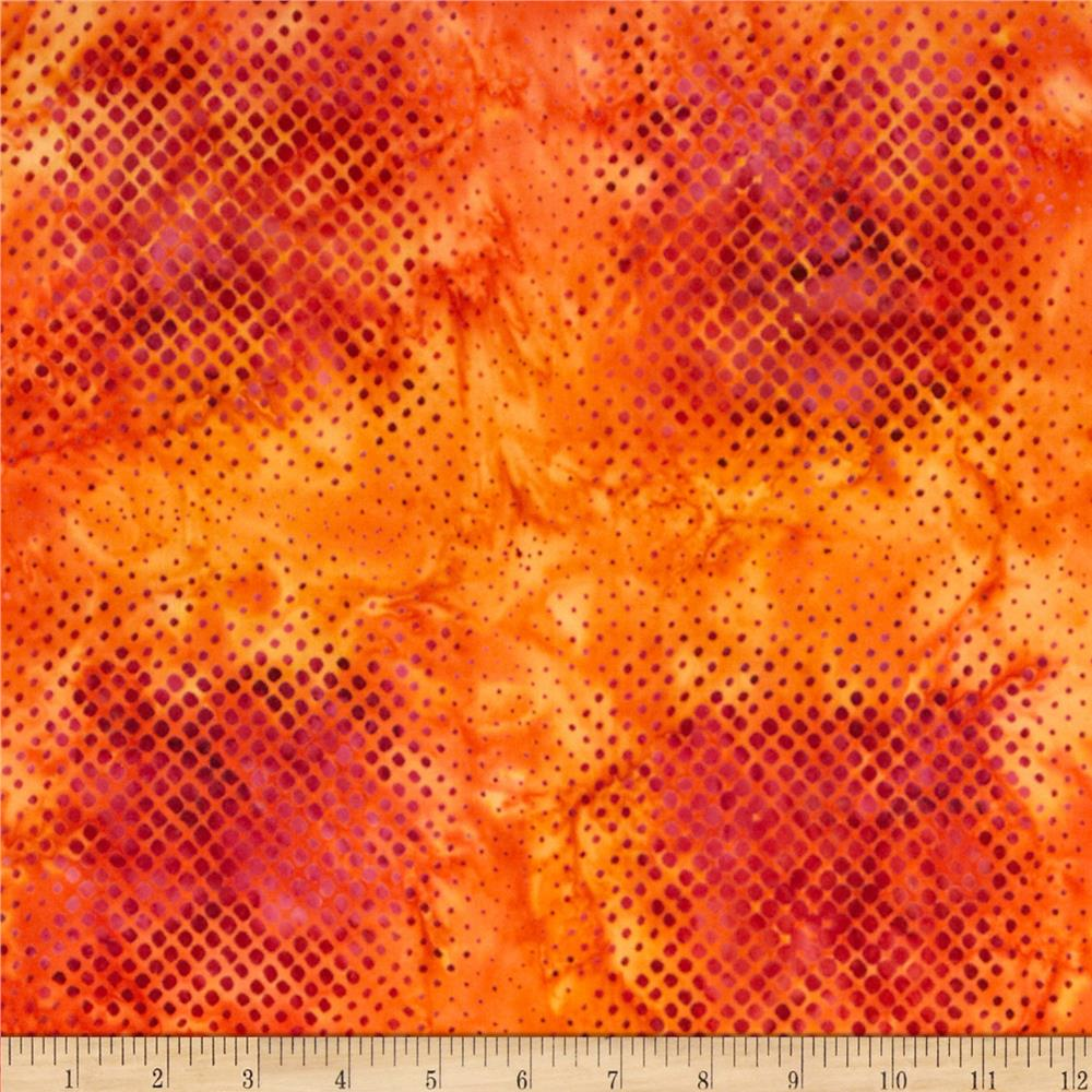Artisan Batiks Geo Scapes Dots Orange