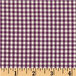 Woven 1/8'' Carolina Gingham Purple