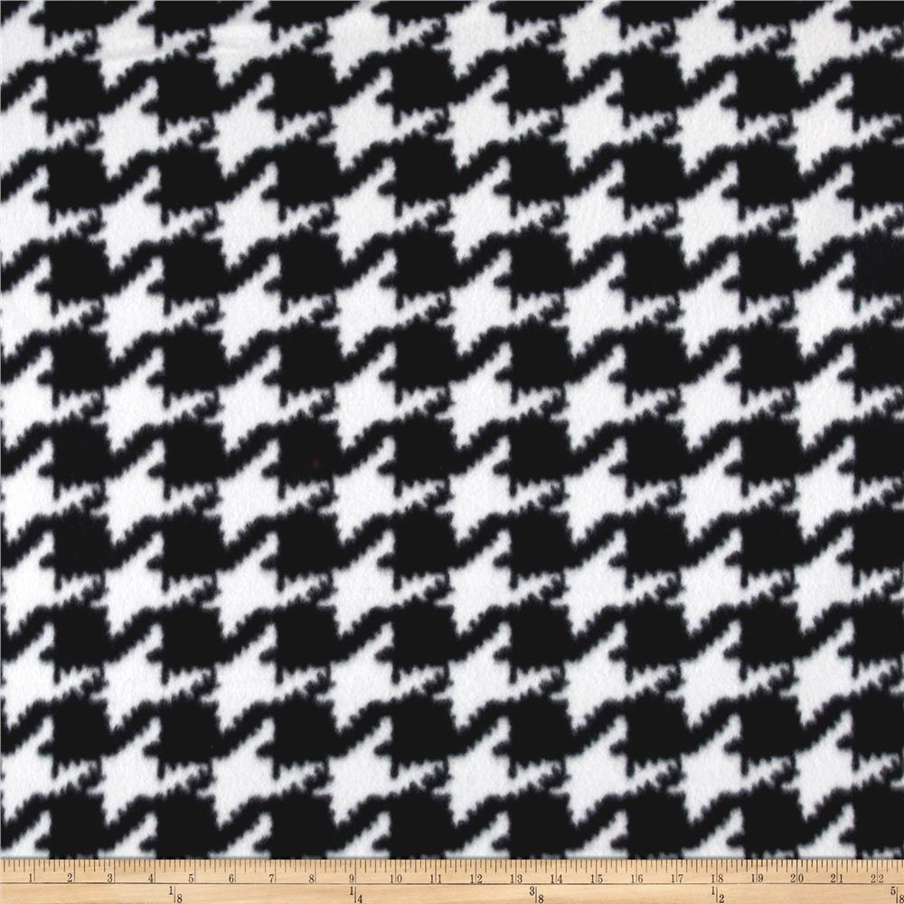 Polar Fleece Houndstooth Black/White