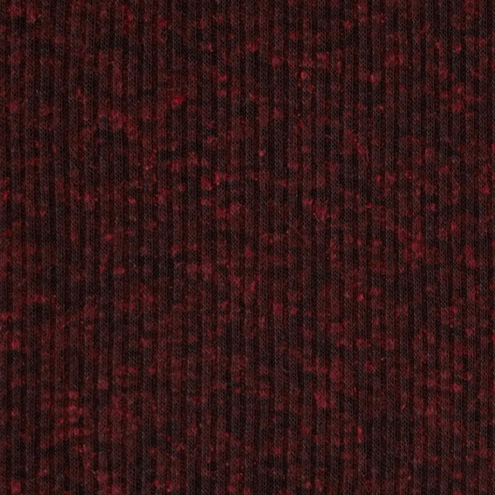 Distressed Tri-Blend Rib Knit Heather Red