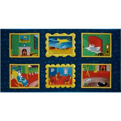 Goodnight Moon Panel Blue/Multi