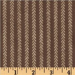 Primo Plaids V Flannel Vine Stripe Taupe Fabric