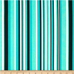 Graffiti Abstract Stripes Turquoise/Black