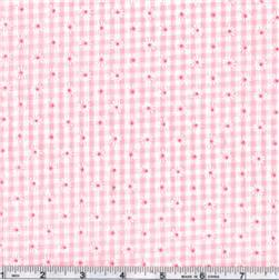 Woven 1/8'' Daisy Gingham Pink