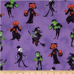 Ghosts & Ghouls Witches and Monsters Purple