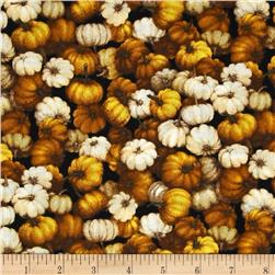Autumn Romance Packed Pumpkins Gold