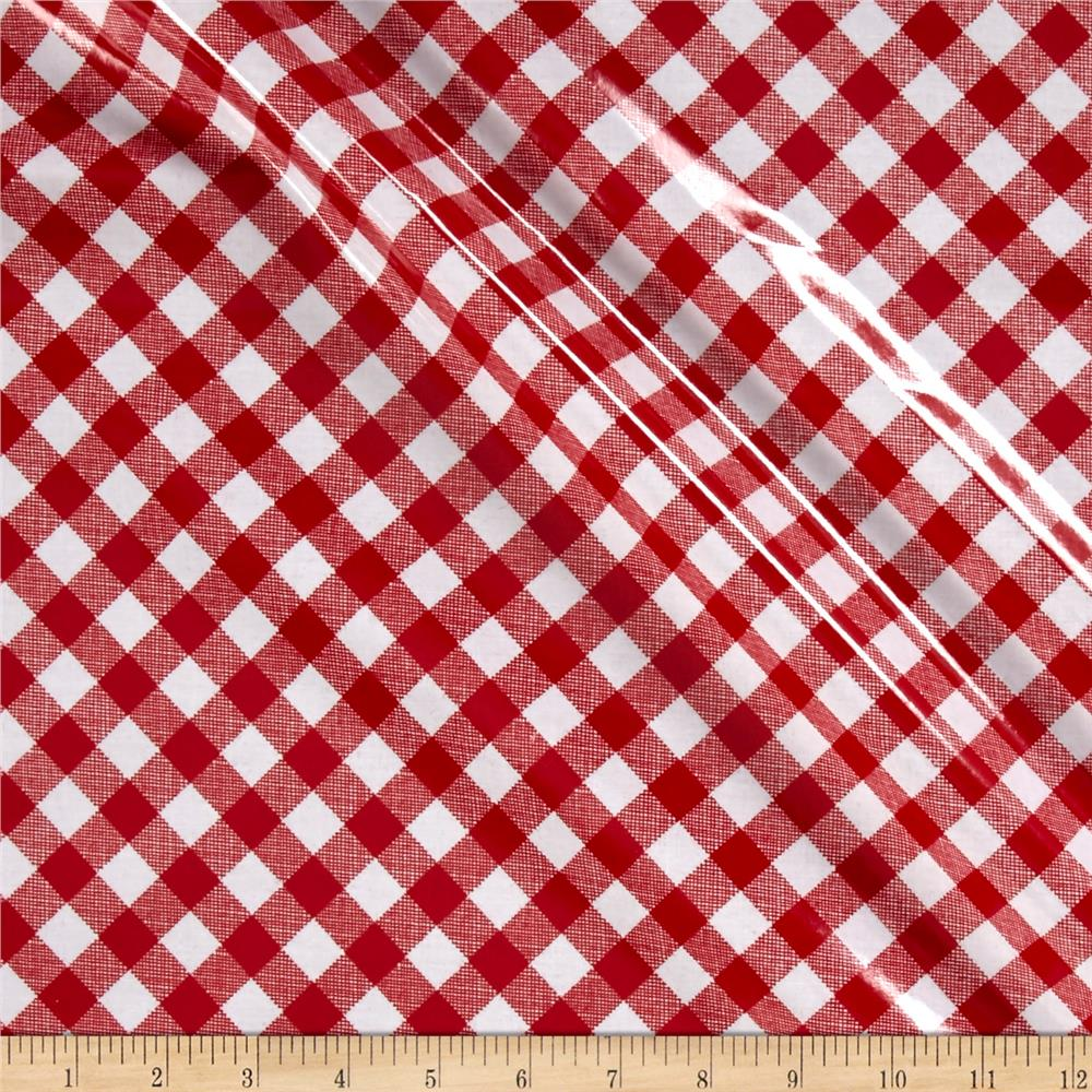 Riley Blake Sew Cherry 2 Lamiante Gingham Red