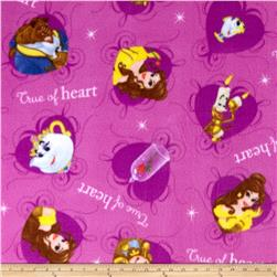 Disney Beauty and the Beast Fleece Belle & Beast Allover Lavender