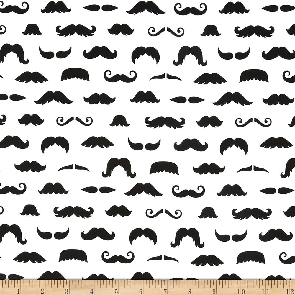 Merry Mustaches Mustache White