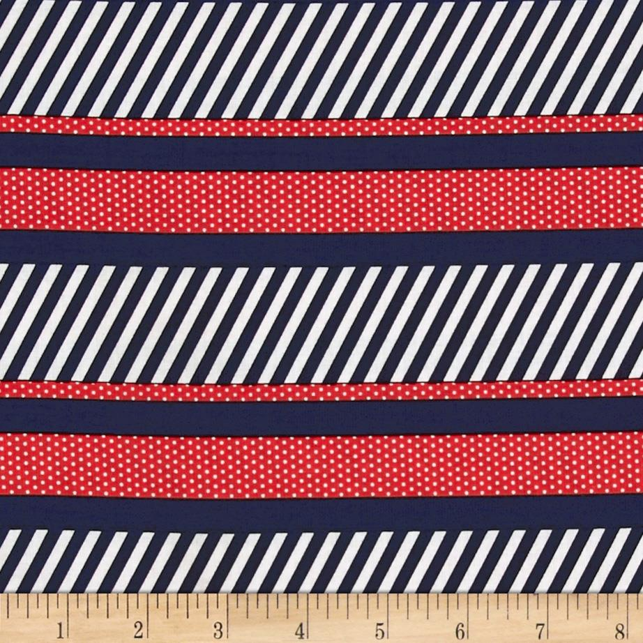 Kanvas Cabana Dotted Stripe Navy/Red