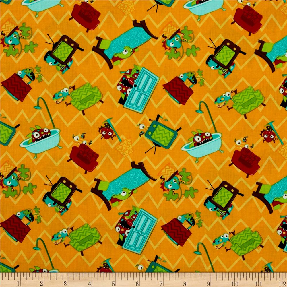 Monster mash discount designer fabric for Monster themed fabric