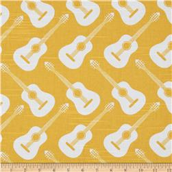 Premier Prints Acoustic Guitars Slub Corn Yellow