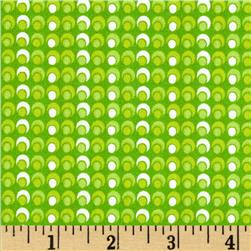 Mimosa Circle Circle Dot Dot Lime Fabric