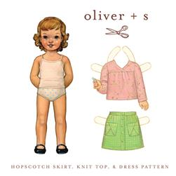 Oliver + S Hopscotch Skirt, Knit Top + Dress Pattern Sizes 5-12