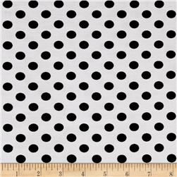 Montgomery Bengaline Polka Dot Print Black and White