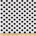 Telio Montgomery Bengaline Polka Dot Print Black and White
