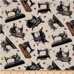 Stitch In Time Sewing Machine Natural Fabric