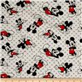Disney Mickey Mouse Toss Jersey Knit White