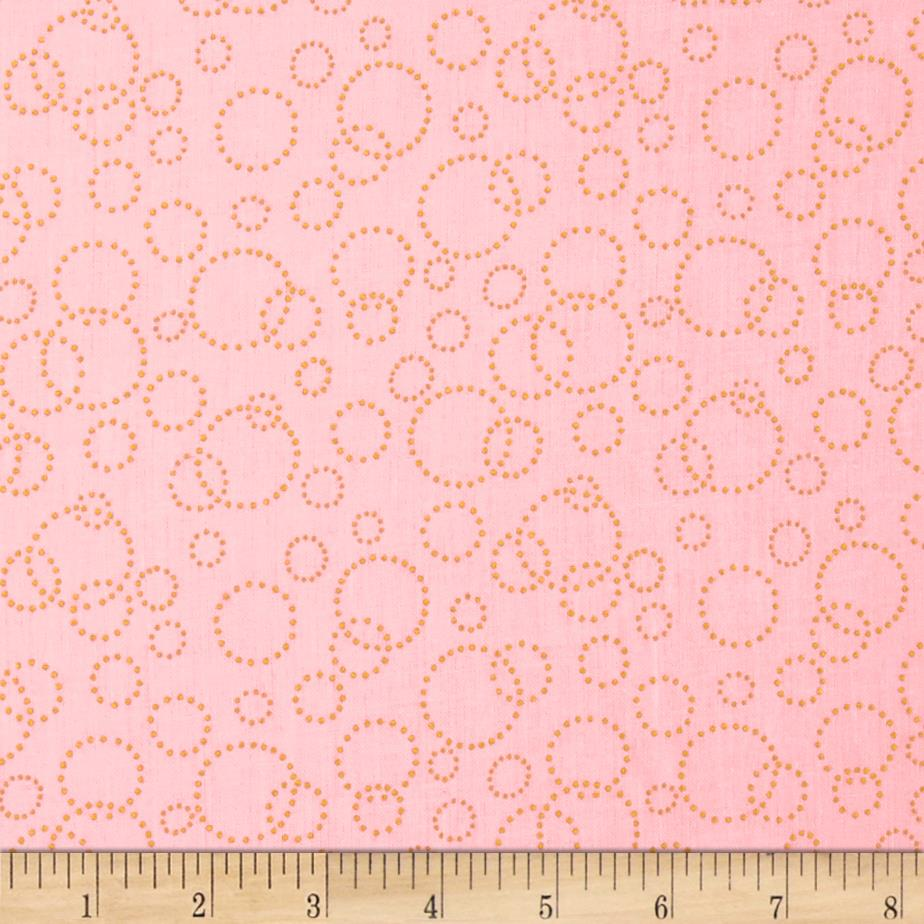 110'' Wide Quilt Back Champagne Pink Gold Fabric