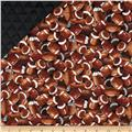 Sports Double Sided Quilted Footballs Brown