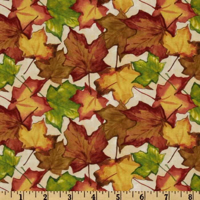Beauty of Autumn Leaf Toss Ivory