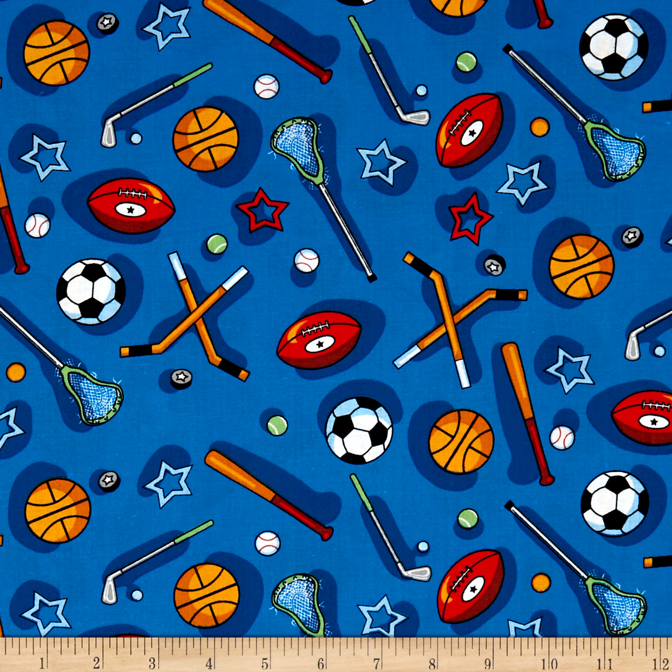 INOpets.com Anything for Pets Parents & Their Pets Kid's Choice Sports Allover Blue Multi Fabric