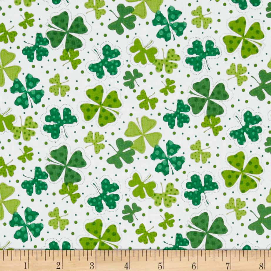 Shamrocks Large White