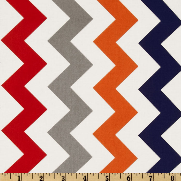 Riley Blake Chevron Medium Red/Boy Fabric