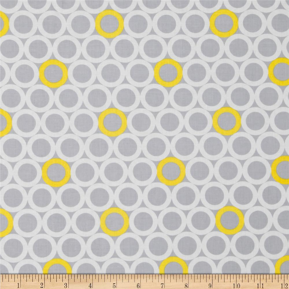 Gray Matters Ring Dot Grey/Yellow