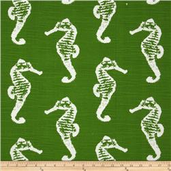Premier Prints Sea Horse Slub Coastal Green Fabric