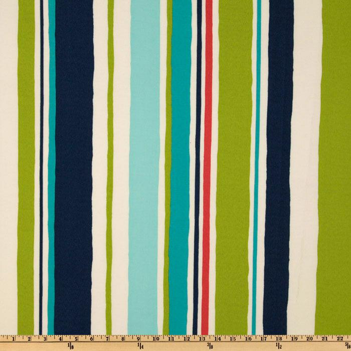 Robert Allen Indoor/Outdoor Baja Stripe Turquoise