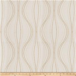Fabricut Sabalo Embroidered Satin Ivory