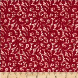 Designer Crochet Lace Vine Dark Red