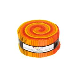 Robert Kaufman Kona Solids Citrus Burst 2.5 In. Jelly Roll