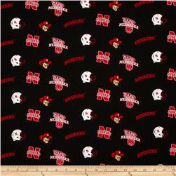 Collegiate Cotton Broadcloth Nebraska Black
