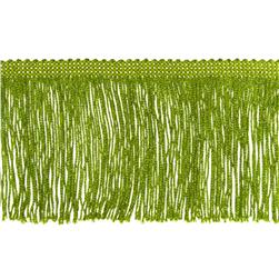 4'' Metallic Chainette Fringe Trim Lime