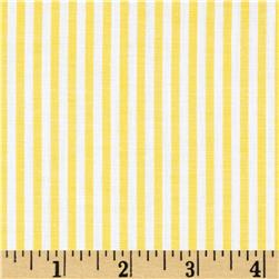 Cotton Blend Yarn Dyed Stripe Shirting Yellow/White