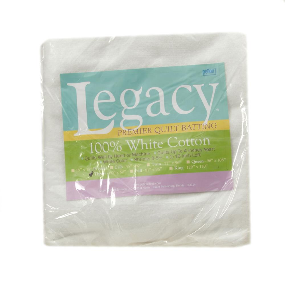 Pellon White Cotton Batting Throw 60