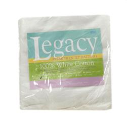 "Pellon White Cotton Batting Throw 60"" X 60"""
