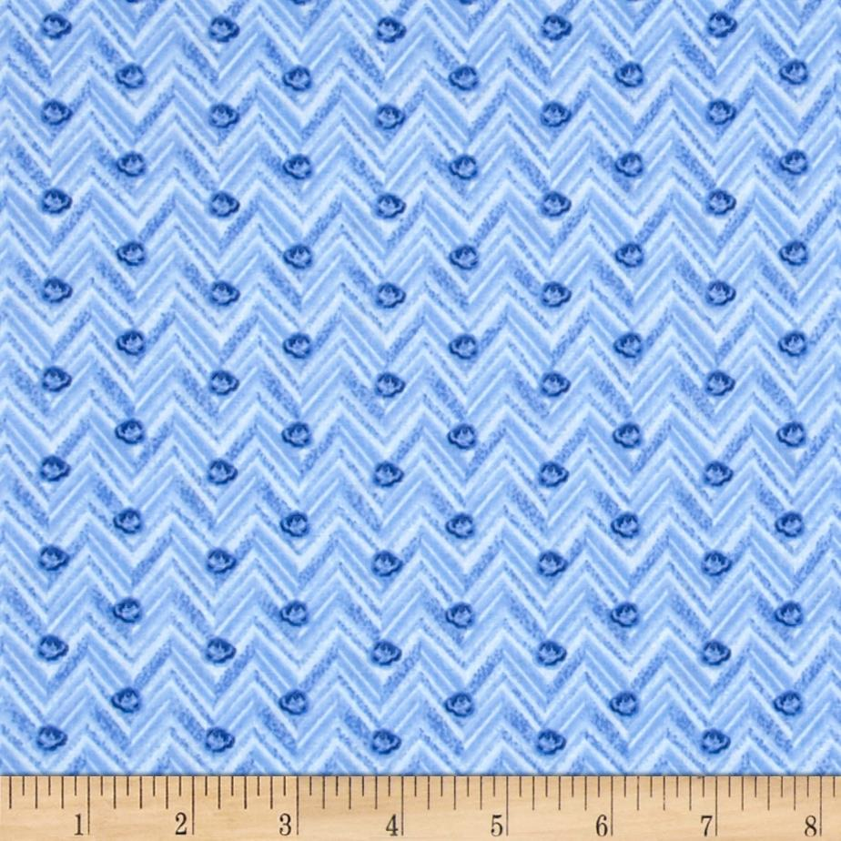 Indigo Blues  chevron Dot Periwinkle