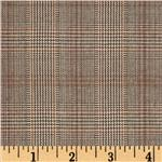 Yarn Dyed Plaid Suiting Black/Brown
