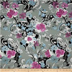 Flori-logic Floral Sketch Grey/Blue