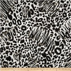 Wild Skins Metallic Animal Print Black/Silver