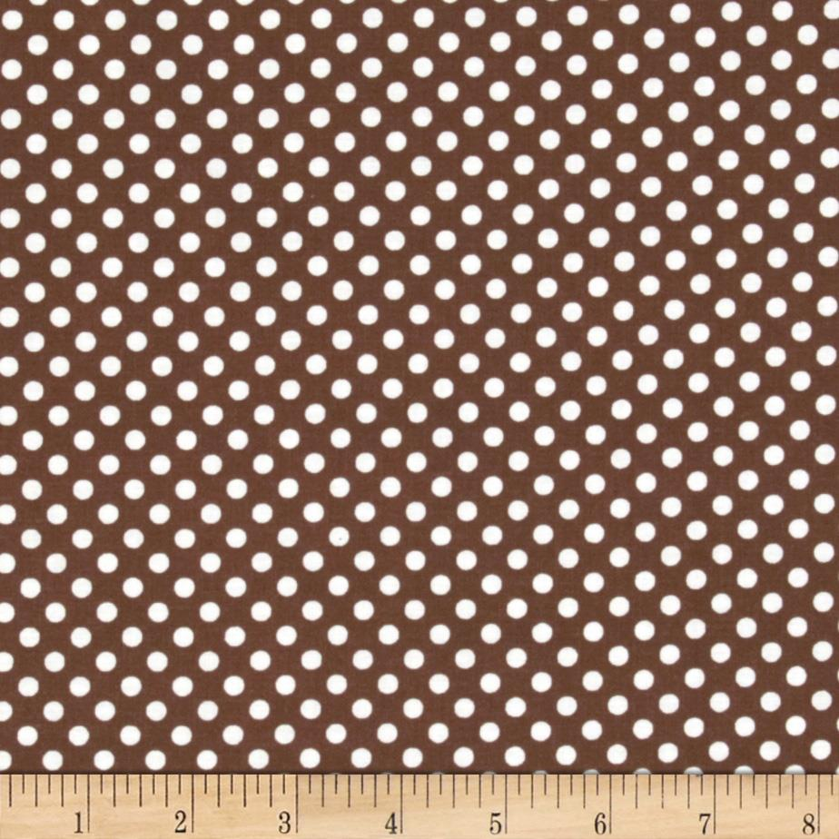 Spot On II Mini Dots Brown/White
