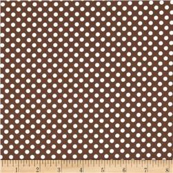 Spot On II Mini Dots Brown/White Fabric