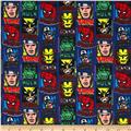 Linear Comic Super Hero Flannel Profile Blue