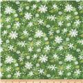 Peace On Earth Snowflakes Green
