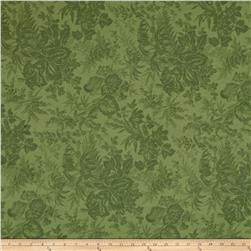 "108"" Wide Back Mono Floral Green"