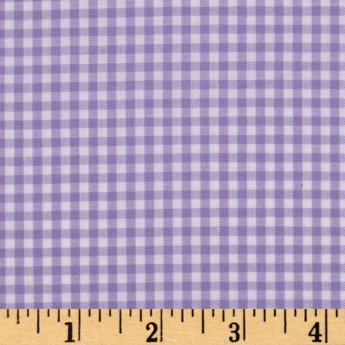 Kaufman 1/8'' Carolina Gingham Lavender